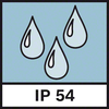 IP protection 54 Dust and splash protection IP54