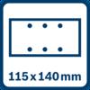 Sanding sheet 115 x 140 mm, 6 holes
