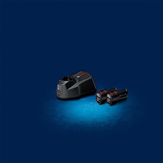 Starter Kit 2x GBA 12V 1.5 Ah + GAL 1230 CV Professional