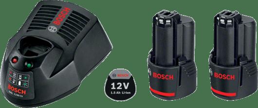 Starter Kit 2 x GBA 12V 1.5Ah + GAL 1230 CV Professional
