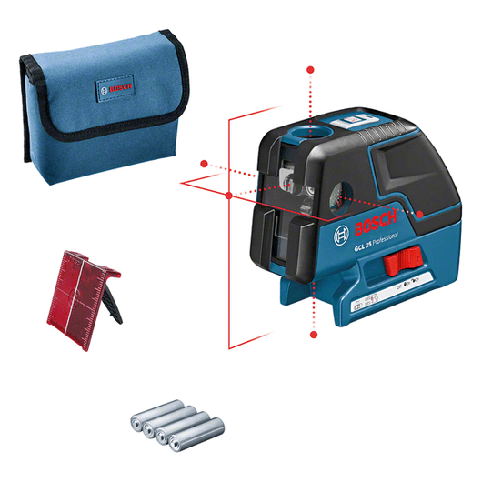 with 4 x battery (AA), laser target plate