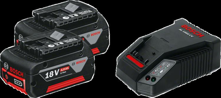2 x GBA 18V 4.0Ah + AL 1860 CV Professional